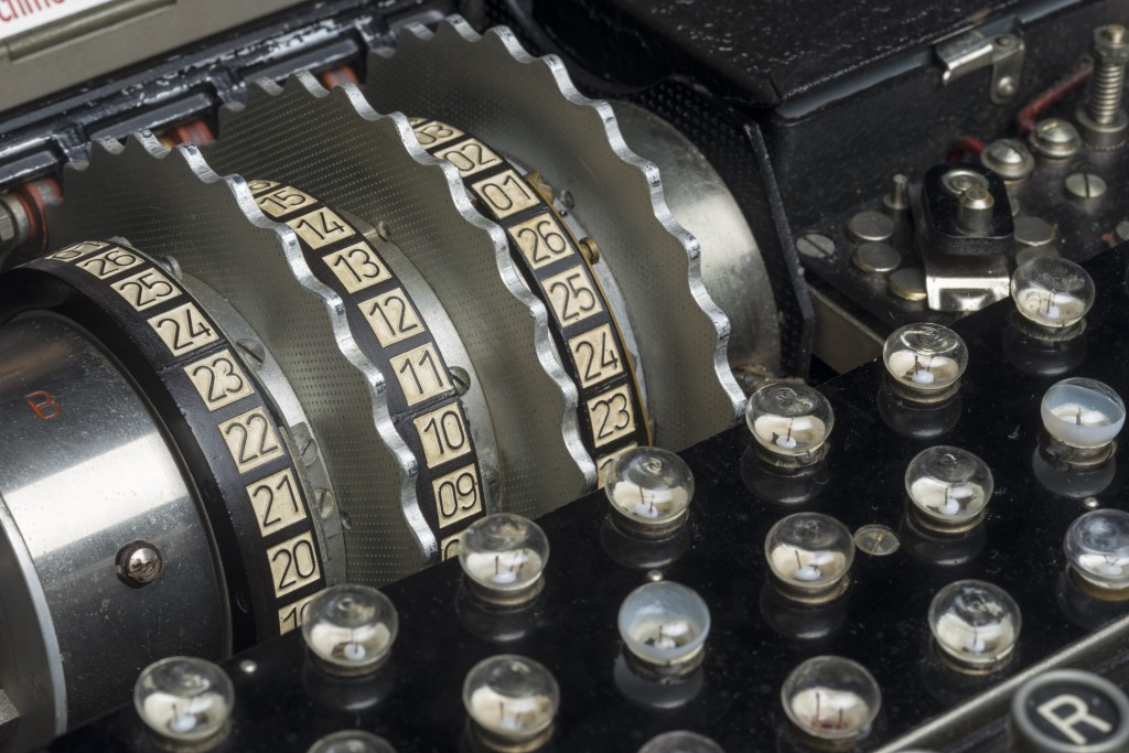 the rotas in Enigma machine GCHQ Crown Copyright (3)
